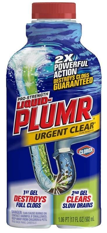 liquid plumr bathtub liquid plumr strength pro professional strength drain opener 17 oz bottle gel
