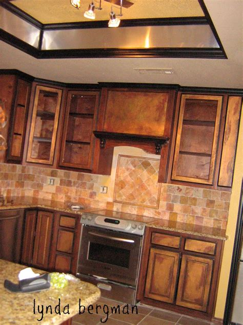 Antique Finish Kitchen Cabinets Lynda Bergman Decorative Artisan Painting Black An Quot Antique Copper Quot Special Finish On Kitchen