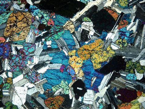 gabbro thin section rocks under the microscope index