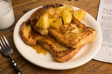 spiced french toast with roasted pineapple recipe chow com