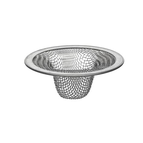 stainless steel sink strainer 2 1 2 in od lavatory mesh sink strainer in stainless