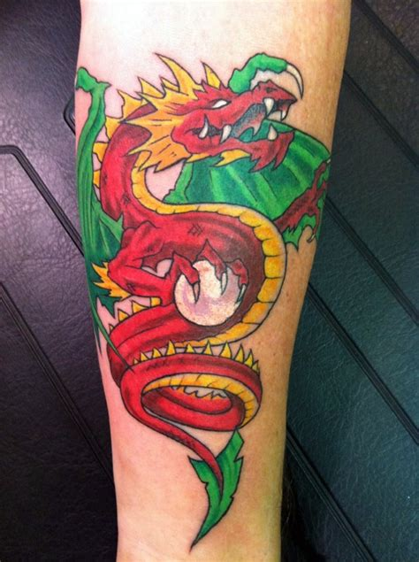 red dragon tattoo by narcissustattoos on deviantart