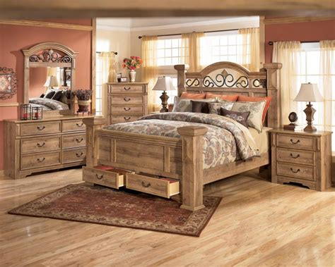 solid wood king size bedroom set rustic king size bed esofastore bedroom modern california