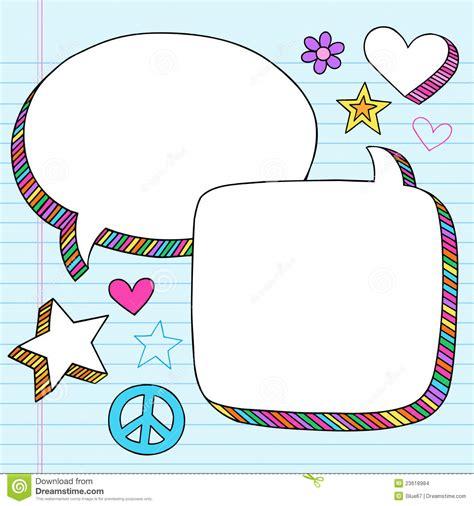 doodle bubbles vector free speech bubbles 3d notebook doodles vector set stock images