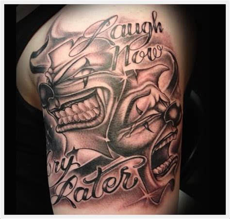clown face tattoo designs cool and amazing clown designs busbones