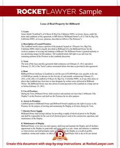 billboard lease contract agreement with free sample