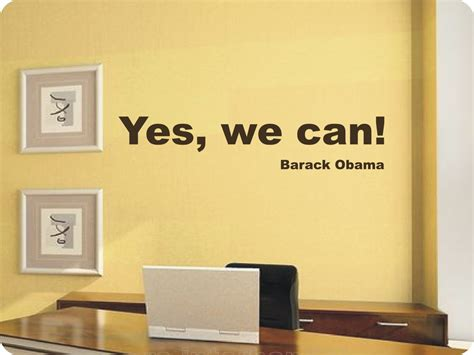 Bargain Shopping Yes I Can Do That by Wandtattoo Spruch Yes We Can Barack Obama 429 Exclusiv