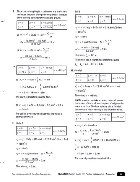 Free Fall Problems Worksheet Physics by Uncategorized Kinematics Worksheet Klimttreeoflife