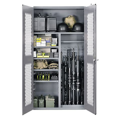 Tactical Gun Cabinet by Secureit Tactical Steel Cabinet 2500 Gear And Gun Split