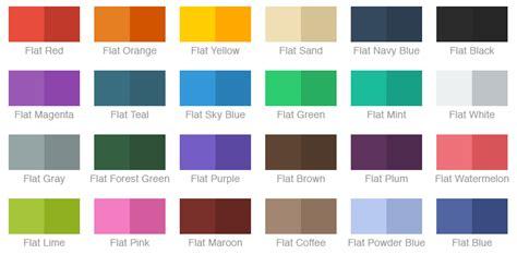 flat color combination cocoadocs org chameleonframework reference