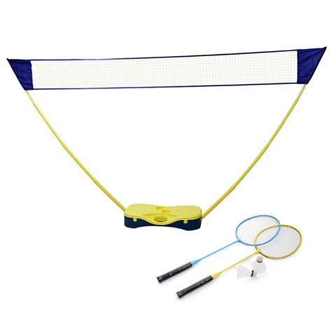backyard badminton set outdoor portable badminton set tennis volleyball net stand