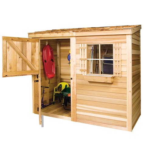 7 X 6 Shed by Shop Cedarshed Bayside Lean To Cedar Storage Shed Common