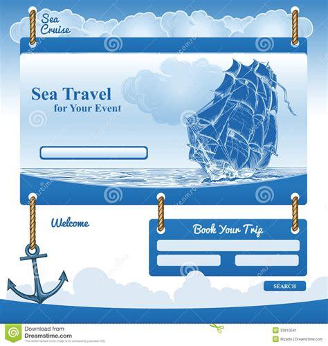 Web Template For Sea Cruise Theme Stock Vector Illustration Of Backdrop Nautical 33910541 Theme Template