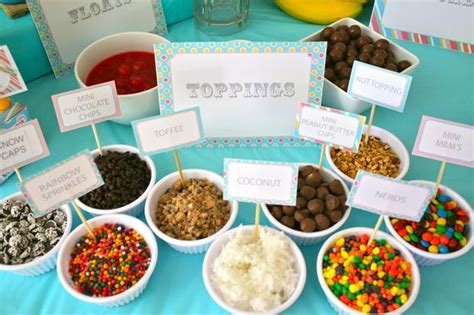 ice cream bar toppings list hostess with the mostess 174 ice cream shoppe topping