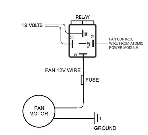 electric fan throughout fan relay wiring diagram