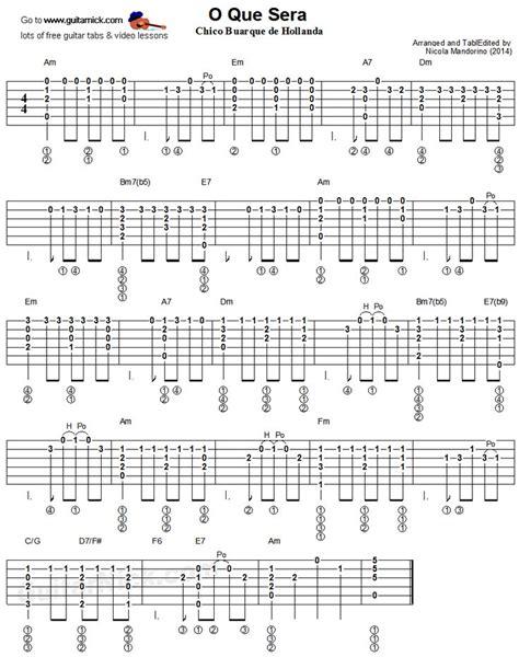 fingerstyle arrangement tutorial o que sera fingerstyle guitar tablature finger picking