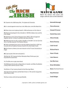 celebrity trivia games online st patricks day games print and play