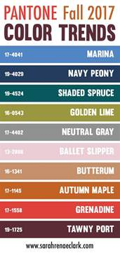 color trends for 2017 25 color palettes inspired by the pantone fall 2017 color