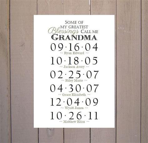 Gifts For Grandmas For - gift grandchildren birthday dates by