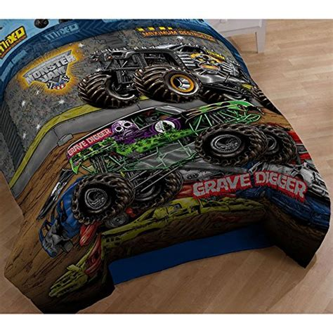 monster jam comforter set 4pc monster jam twin bedding set grave digger monster