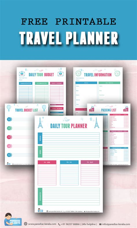 printable vacation planner free free printable travel planner paradise holidays cochin