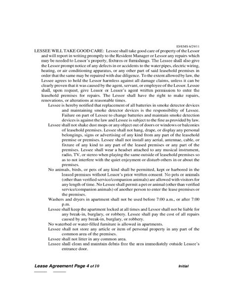 sle parking lease agreement idaho residential lease agreement free