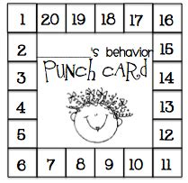 student punch card template behavior what the wants what s the bee havior buzzzz