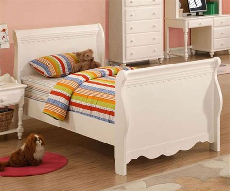 girls white bed sleigh beds full size product options homesfeed
