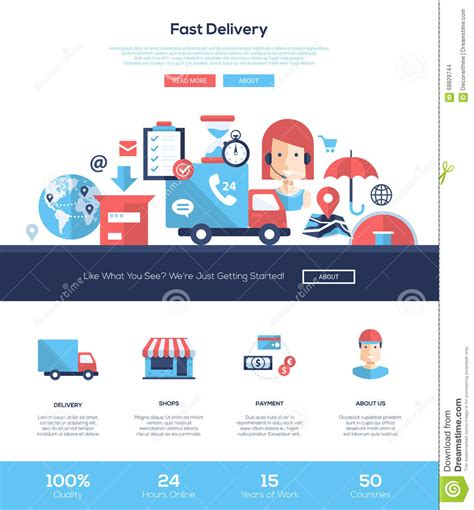 templates for courier website delivery services website header banner with webdesign
