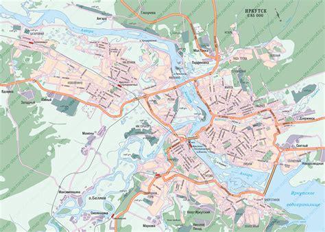 irkutsk map map of irkutsk