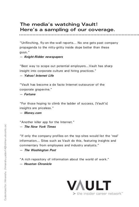 Vault Resume Tips Vault Resume Writer