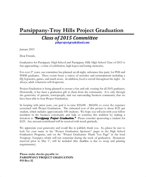 thank you letter to for project 6 sle graduation thank you letters sle templates