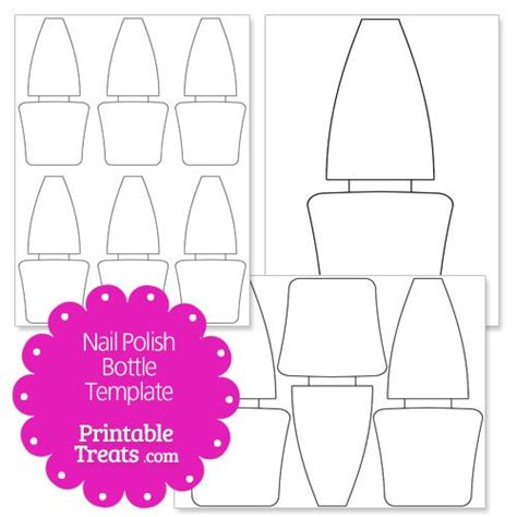 nail templates free printable nail bottle shape template craft