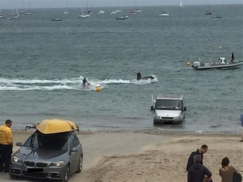 boat safety petition abersoch safety fears over jet skis riding the waves feet