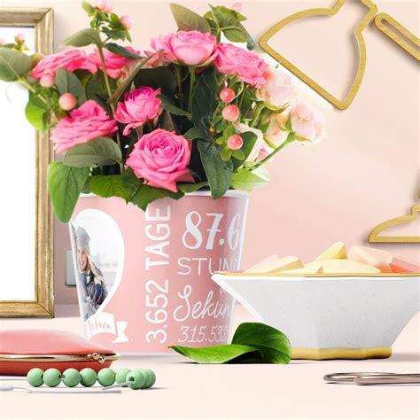 hochzeitstag rosenhochzeit blumentopf von myfacepot