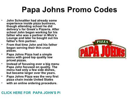 papa john s discount vouchers papa johns promo codes