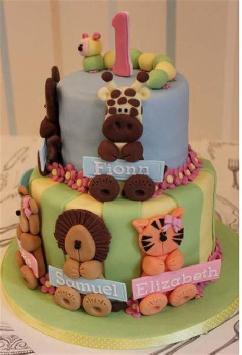 tier  birthday cake  animal theme  baby girljpg  comment