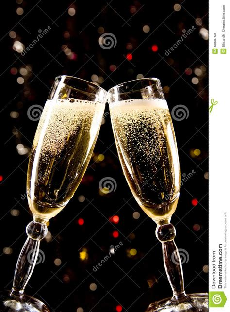 champagne glasses making toast stock photo image