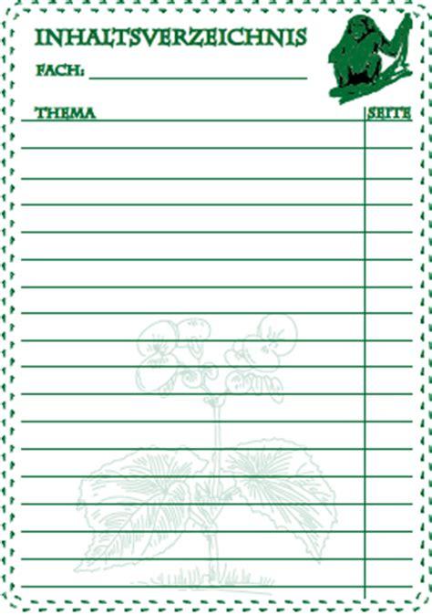 Lebenslauf Caesar Tabellarisch inhaltsverzeichnisse f 252 r schulordner zum ausdrucken