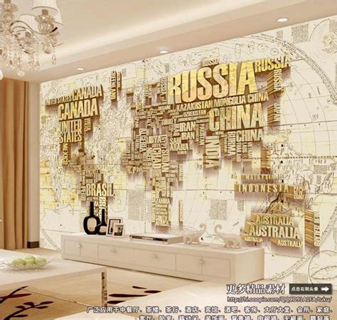 coffee map wallpaper factory direct three dimensional vintage world map ceiling