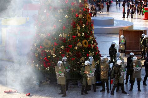 greece unrest merry christmas
