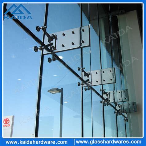 Cepitan Kaca Siku L Pcs fitting spider kaca untuk sirip dinding kaca 220mm 4