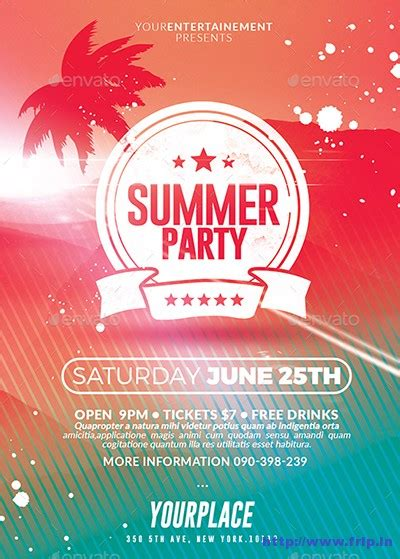 summer event flyer template 50 best summer flyer print templates 2016 frip in