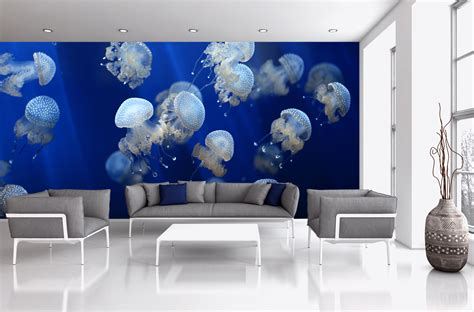 underwater wall mural ideas for your living rooms