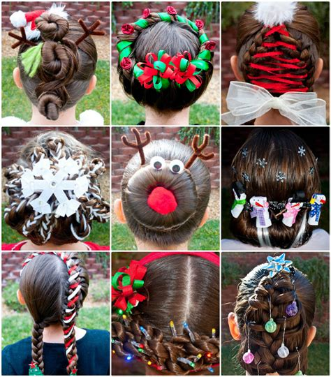 unique christmas hairstyles