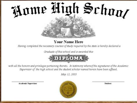 high school diploma template with seal diploma maryland high school diploma