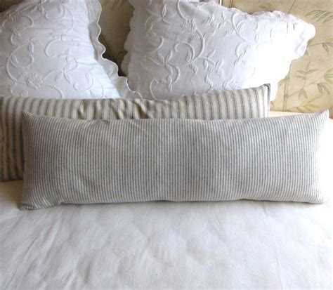 ticking bolster pillow daybed size 11x36 in 1