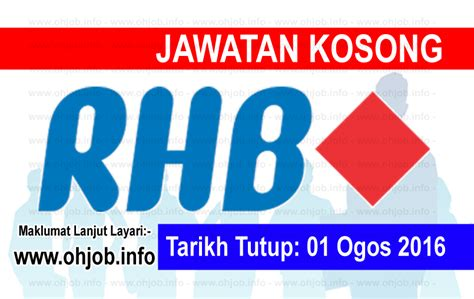 rhb bank internship vacancy at rhb banking jawatan kosong kerajaan