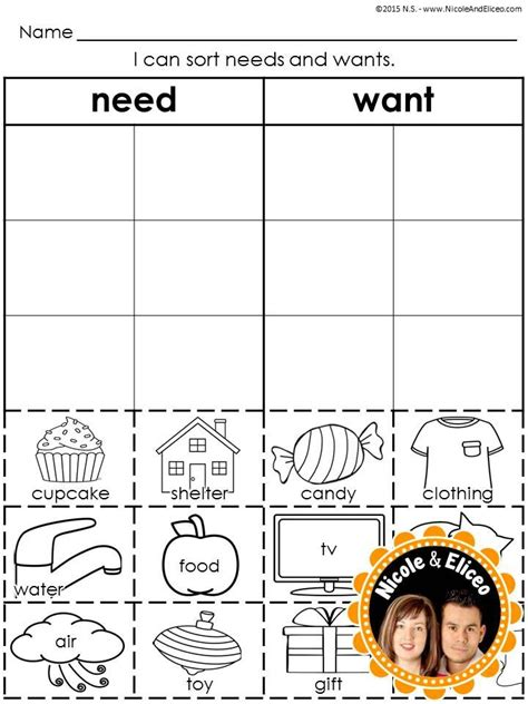 Needs And Wants Worksheets by Wants And Needs Activities Www Imgkid The Image