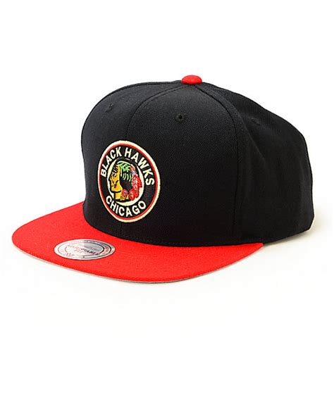 nhl snapback hats c 5 nhl mitchell and ness blackhawks 2 tone snapback hat